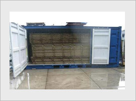 Side doors container